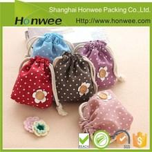 promotional china online shopping cotton drawstring bag