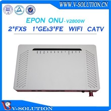 gepon 2fxs + 3fe + 1ge catv onu ftth network 3g wifi router