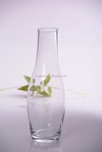 Drum belly long neck glass vase