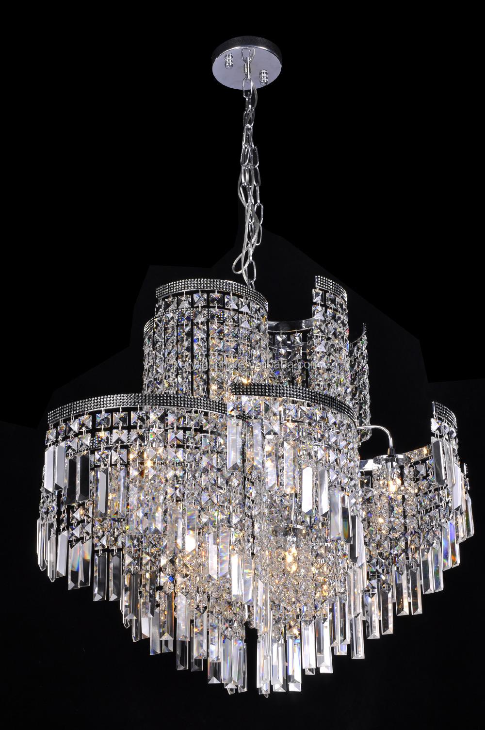 Luxury crystal hanging chandelier / pendant lamps big modern light