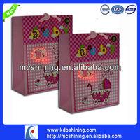 Led lighting fiber optic paper bag