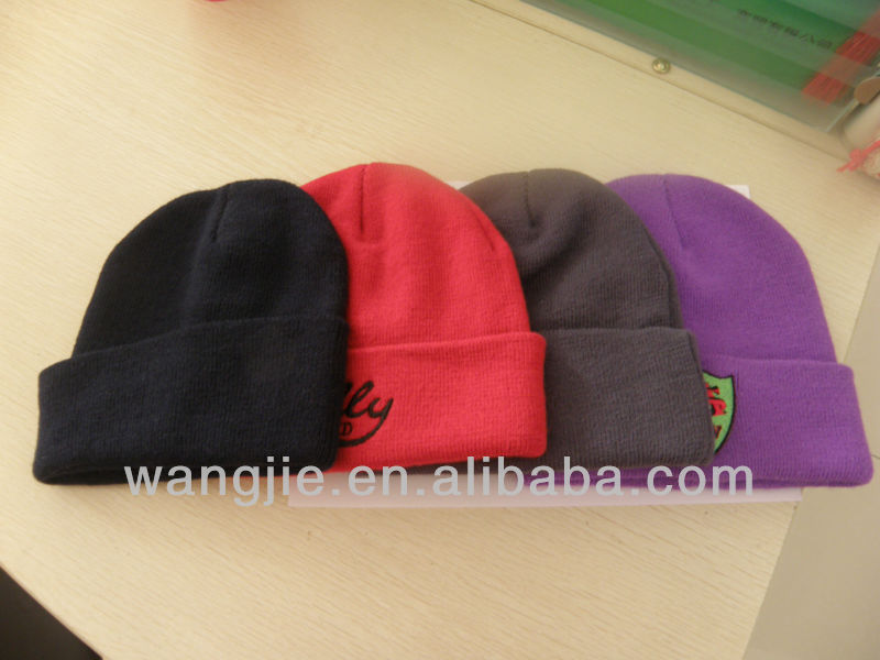 2015 fashion 100% Acrylic Knitted hat