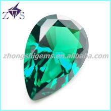 high quality pear shape nano green spinel stones