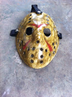 Full face plastic Yellow old scar face Jason Hockey mask Halloween Carnival party masks
