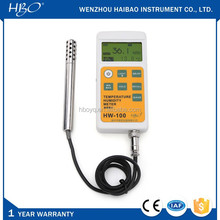Greenhouse handheld digital thermo hygrometer, self-recording electronic temperature and humidity meter