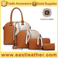 E1145 ali baba shopping unique design face sets fashion handbags two material