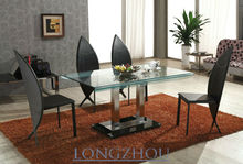 Stainless Steel Glass Space Saving Dining Table L832A