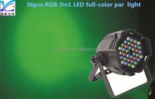 moving head laser light blue moving head laser moving head laser light36*3W RGB 3in1 led full-color waterproof par light