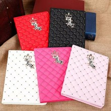 New Luxury Crown Leather Smart Case Stand Cover for ipad 2/3/4/5/Air ipad mini