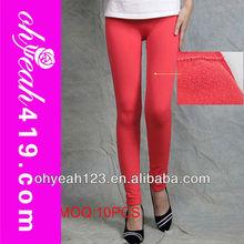 la mujer de invierno t23324 polainas de espesor y cálido color rojo sólido polainas