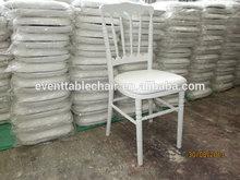 blanco de madera plegable silla de napoleón con cuhion para la venta