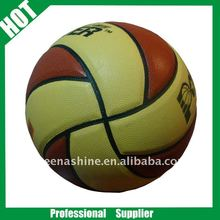 8 panels colorful promotion PU rubber basketball