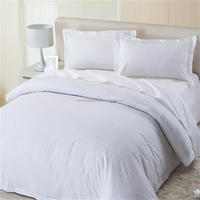 hotel white 1cm sateen stripe bedding set