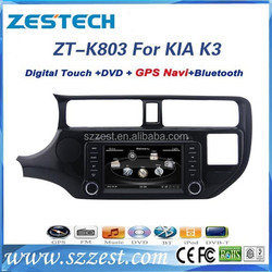 ZESTECH best price Car dvd gps player for KIA RIO Car dvd gps player with GPS,Radio,BT,RDS,3G,V-10disc+factory