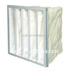 Medium efficiency synthetic pocket air filter ,polyester bag