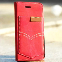 Luxury fashion pu Leather wallet for iphone 6 case