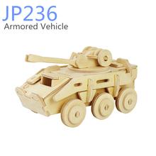 Robotime 3D puzzle pull back car toys
