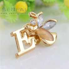 Beautiful Crystal Angle Letter Brooch Gold Plated Jewelry 2015