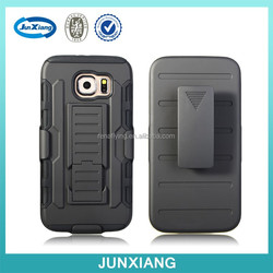 Dual layer robot armor holster case for samsung galaxy s6 with belt clip