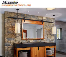 top hung wood sliding door fitting set with upper track