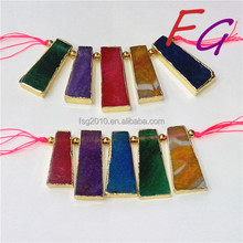 AS-LB-US-1373 fashion jewelry Sets of chain, Natural geode agate loose beads