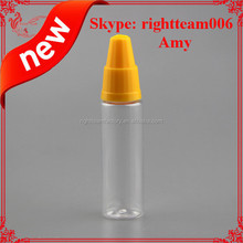 PET long thin clear eliquid bottle. dropper bottles, with new childproof caps