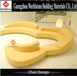 luxury hotel lobby waiting chair in solid surface