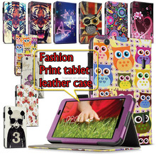 2015 Folio Book Style Printed Wallet Flip Leather Case For LG G Pad 8.3 V500 Tablet