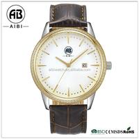chinese manufacturer big face fashion gold bezel diamond mans watches