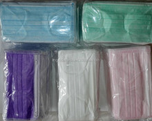 comfortable disposable/single use fabric face mask with white /blue /pink/ green