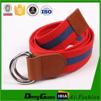 Yarn dyed multicolor canvas modern webbing belt for casual dressing