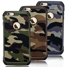 Manufacturer wholesale camouflage army leather cases cover for Apple iPhone 6