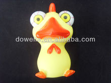 POP out duck vinyl kids toy/PVC cartoon figure toys/OEM animal vinyl toys