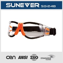 z87.1 and en166 high impact safety goggle