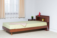 latest style wooden wall bed with lamp and power socket