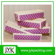 Candy Stripes or Polka Dots Paper Party Supplies Paper Trays, Food Boat Purple Food Boats