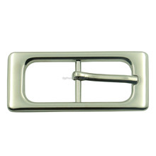 Manufacturing nickel free high quality shiny plated metal rectangle bag belt pin buckle