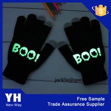 Multicolor led glitter glove led flashing gloves