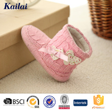 manufacturer china top quality pink cashmere durable winter warm boots shoes for kids