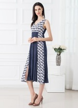 F5S40007 Women 2016 Summer Casual Printed Dress New Design China Factory Price