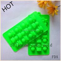 silicone ice pop molds villain cartoon Candy Ice Cake Chocolate Sugar Craft Fondant Silicone cake Molds noulds Tray
