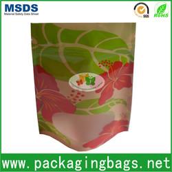 Custom printed zip lock plastic bags/stand up zip lock bags with window