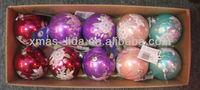 xmas silk ball ornaments