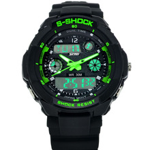 High Quality Products Men Digital Sports Plastic Strap Watch