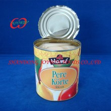 Brands canned food supplier, canned pear halves in light syrup with private label
