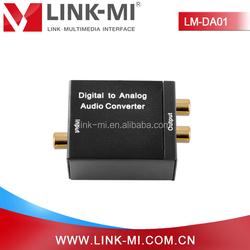 LINK-MI LM-DA01 Converts Coaxial/Toslink Digital Audio to Analog L/R Audio Converter