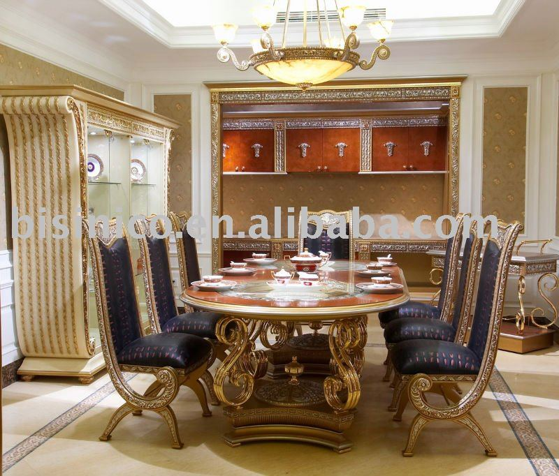 luxury classical dining room furniture set soild wood