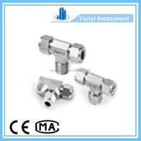 "1/4"" NPT 316 stainless steel straight ferrule tube fittings"