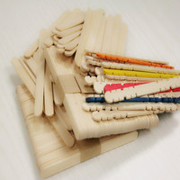 Wooden color popsicle sticks ice cream sticks for cake