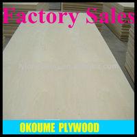 Okoume plywood mr glue from FEIXIAN HONGYUN PLYWOOD FACTORY